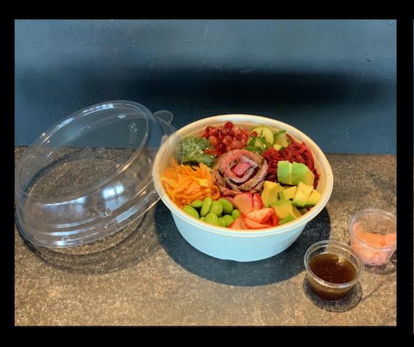 Beef poke bowl
