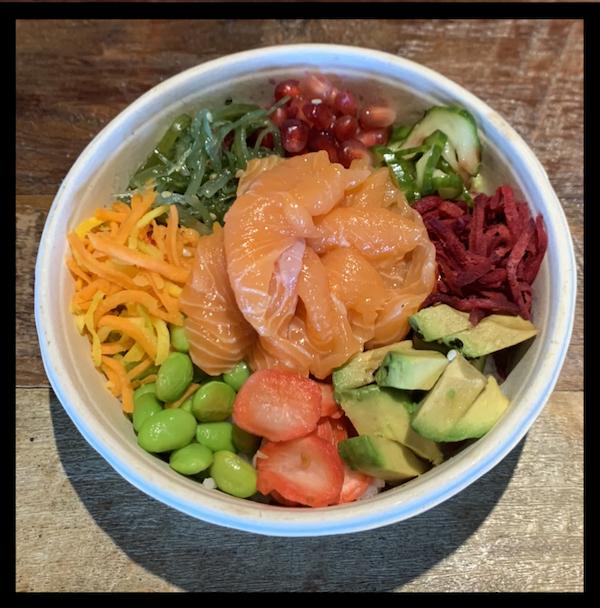 Zalm poke bowl